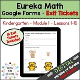 Eureka Math Kindergarten Module 1A Exit Tickets - Google Forms Distance Learning