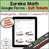 Eureka Math Kindergarten Module 1B Exit Tickets - Google Forms Distance Learning