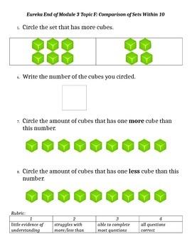Eureka Math Kindergarten Module 3 End of Module Assessment