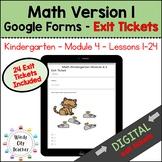 Eureka Math Kindergarten Module 4A Exit Tickets - Google Forms Distance Learning