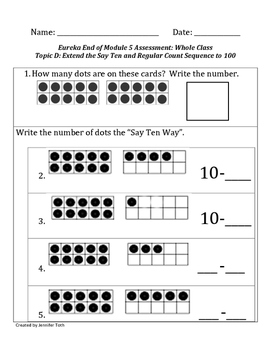 Eureka Math Kindergarten Module 5 End of Module Assessment