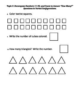 Eureka Math Kindergarten Module 5 Mid Module Assessment