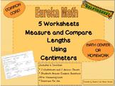 2nd Grade Eureka Math Module 2 Measurement Comparison Worksheets Centimeters