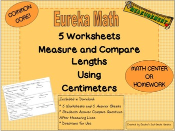 2nd Grade Eureka Math Module 2 Measurement Comparison Work