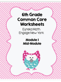 Eureka Math Mid Module 1 Study Guide or Modified Test