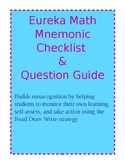 Eureka Math Mnemonic Checklist-Question Guide...Monitor/Self-Assess/Take Action