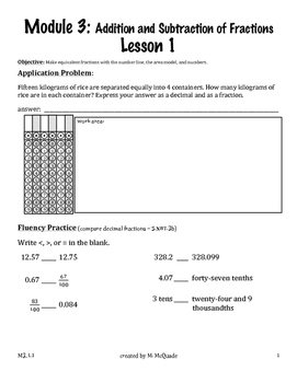 Eureka Math, Module 3 Bundle