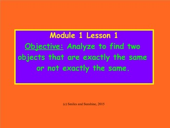 Eureka Math Module 1 Lessons 1-5
