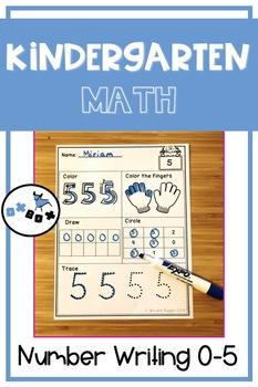 Eureka Math Module 1 Topic D Center Activity: Number Writing 0-5