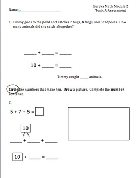 Eureka Math Module 2 Topics A-D Assessments