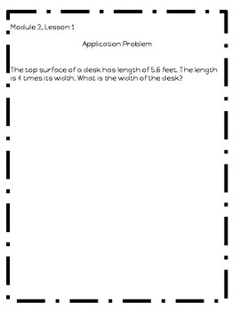 Eureka Math Module 2 Grade 5 Application Problems