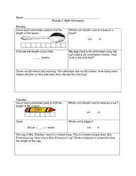 Eureka Math Module 2 Homework