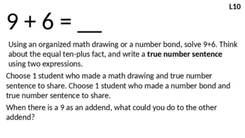 Eureka Math - Module 2 Lesson 10 (1st grade)