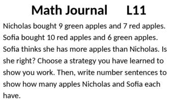 Eureka Math - Module 2 Lesson 11 (1st grade)