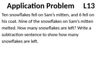 Eureka Math - Module 2 Lesson 13 (1st grade)