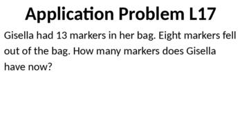 Eureka Math - Module 2 Lesson 17 (1st grade)