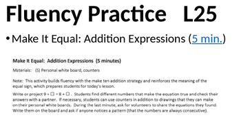 Eureka Math - Module 2 Lesson 25 (1st grade)