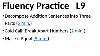 Eureka Math - Module 2 Lesson 9 (1st grade)