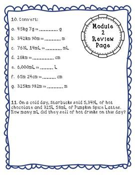 Eureka Math Module 2 Review Page: Grade 4 Metric Conversions