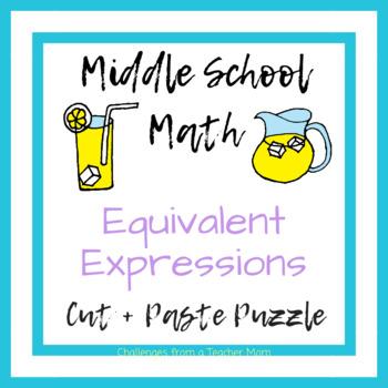 Eureka Math Module 3 - Expressions + Equations Puzzle