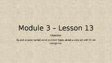 Eureka Math Module 3 Lesson 13