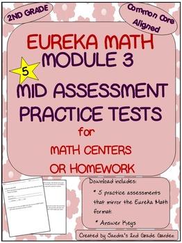 2nd Grade Eureka Math Module 3 Mid Module Assessment Practice Tests (5)