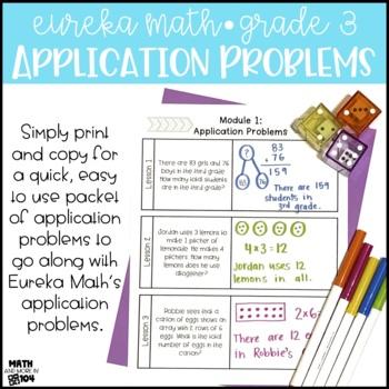 Eureka Math Module 4 Application Problems- 3rd Grade