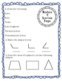 Eureka Math Module 4 Review Page: Grade 4 Geometry