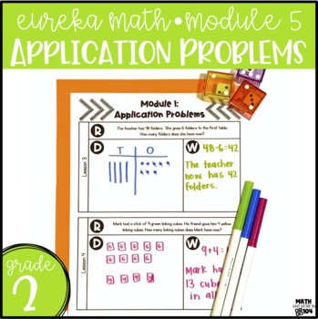 Eureka Math / Engage NY Module 5 Application Problems - 2nd Grade