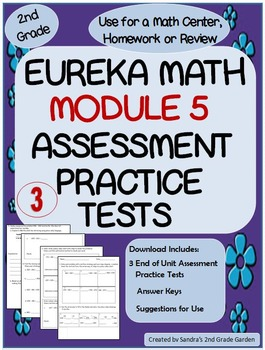 2nd Grade Eureka Math Module 5 Practice Assessment with Answer Keys