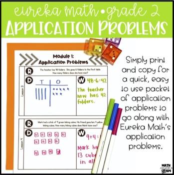 Eureka Math / Engage NY Module 6 Application Problems - 2nd Grade