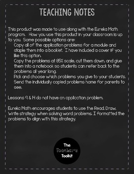 Eureka Math Module 6 - Application Problems