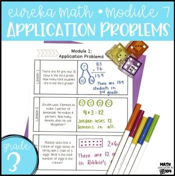 Eureka Math Module 7 Application Problems - 3rd Grade