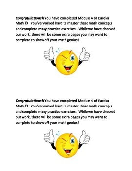 Eureka Math Module Workbook Notes for modules 1-7