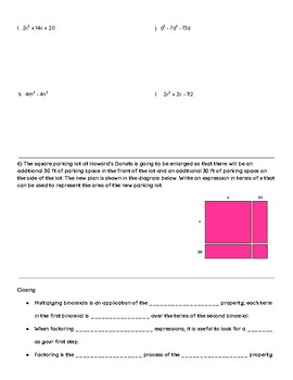 Eureka Math Notes: Algebra 1 Module 4 Lesson 2