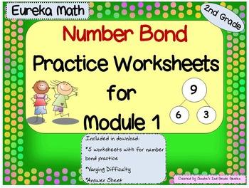 Eureka Math Number Bond Practice  for Module 1  2nd Grade