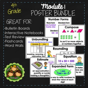 Eureka and Engage NY Math POSTERS - Fourth Grade (Module 1)