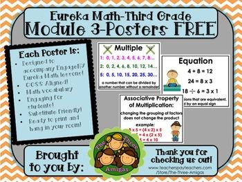 Eureka Math POSTERS Third Grade Module 3 FREE