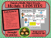 Eureka Math POSTERS Third Grade Module 4 Set of Six