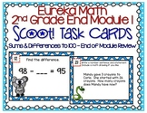 Eureka Math Second Grade Module 1 Review Scoot Task Cards