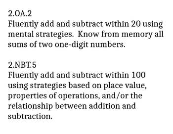 Eureka Math Second Grade Module 1 Sums and Differences to 20