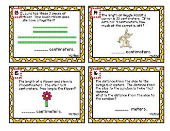 Eureka Math Second Grade Module 2 Review Scoot Task Cards