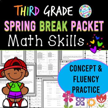 Eureka Math Spring Break Packet - 3rd Grade Spiral Review (Distance Learning)