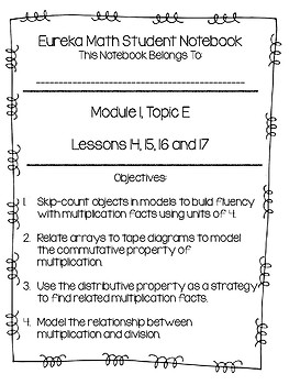 Eureka Math Student Notebook, 3rd Grade, Module 1, Topic E
