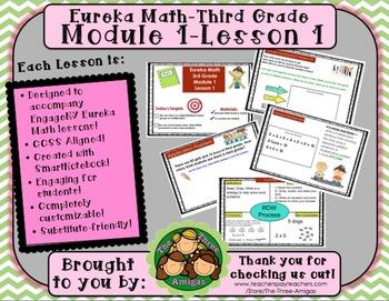 M1L01 Eureka Math Engage NY Common Core 3rd Grade Mod. 1-Lesson 1 SmartBoard Lsn