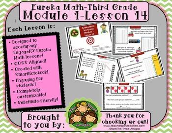 M1L14 Eureka Math-Third Grade: Module 1-Lesson 14 SMART Board Lesson