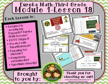 M1L18 Eureka Math - Third Grade: Module 1- Lesson 18 Smartboard Lesson