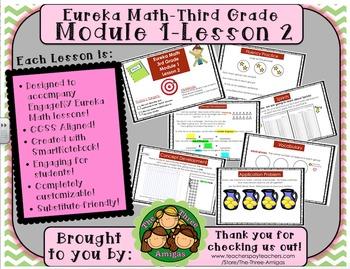 M1L02 Eureka Math-Third Grade: Module 1-Lesson 2 SmartBoard Lesson