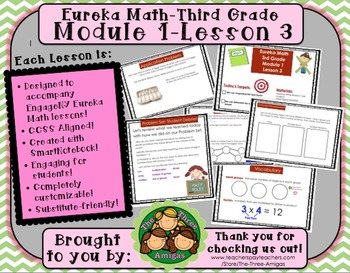 M1L03 Eureka Math-Third Grade: Module 1-Lesson 3 SmartBoard Lesson