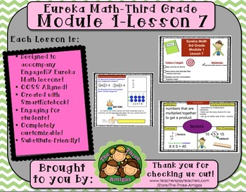 M1L07 Eureka Math - Third Grade: Module 1 Lesson 7 Smartbo